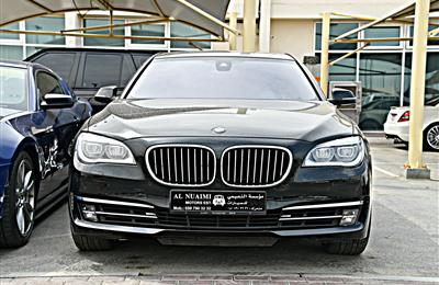 BMW 750LI MODEL 2015 - BLACK - 74,000 KM - V8 - GCC