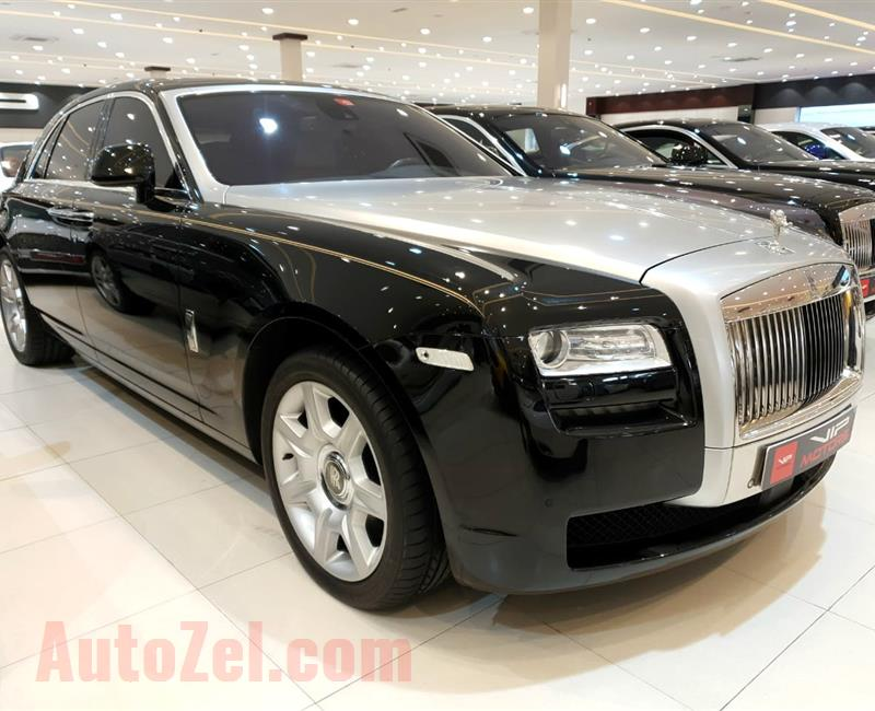 ROLLS ROYCE GHOST-  2012- BLACK- 48 000 KM- GCC- FULL OPTIONS