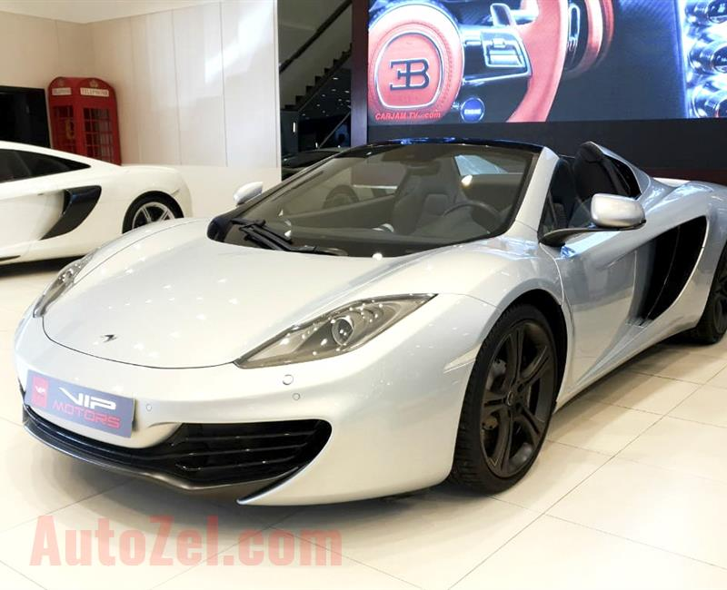MCLAREN MP4-12C SPIDER- 2013- SILVER- 8 000 KM- GCC- DEALER WARRANTY TILL 2021