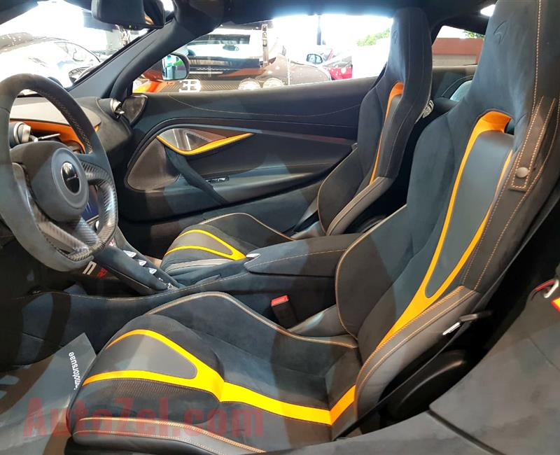 MCLAREN 720S- 2018- ORANGE- 1 000 KM- GCC -DEALER WARRANTY