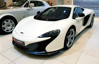 MCLAREN 650S- 2015- WHITE- 14 000 KM- GCC- DEALER WARRANTY