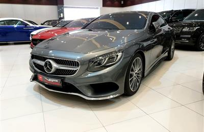 MERCEDES-BENZ S500 AMG COUPE- 2017- GREY- 27 000 KM- GCC