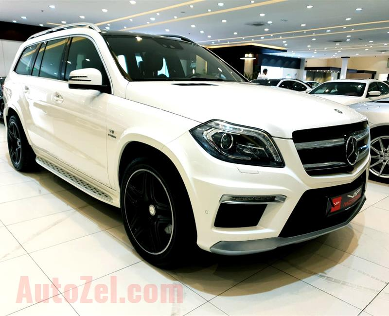 MERCEDES-BENZ GL63 AMG- 2015- WHITE- 22 000 KM- GCC
