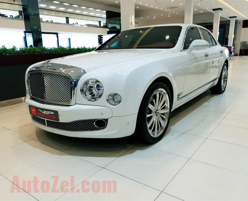 BENTLEY MULSANNE MULLINER- 2016- WHITE- 6 000 KM- GCC