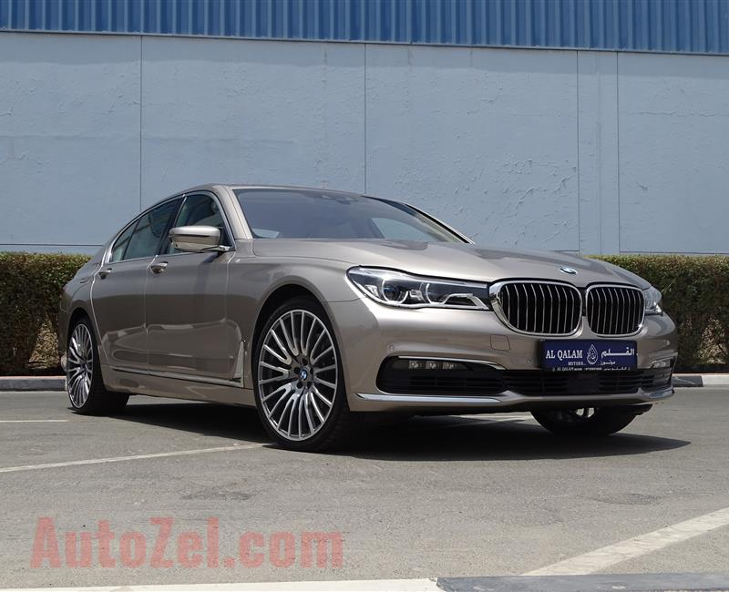 BMW 750 Li, V8- 2017- GOLD- 42 000 KM- EUROPEAN SPECS