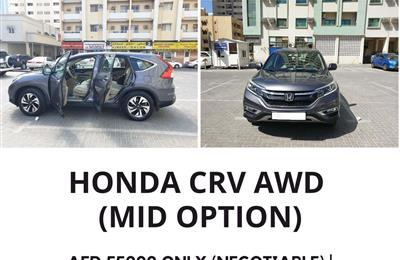 HONDA CRV ( ALL FOUR WHEEL DRIVE ) FULL OPTIONS WITH...