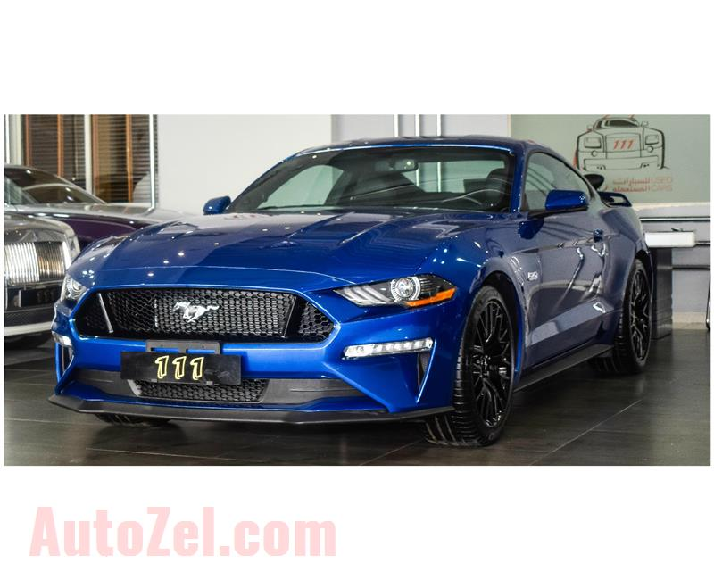 FORD MUSTANG GT PREMIUM 5.0- 2018- BLUE- 3 466 KM- IMPORT SPECS