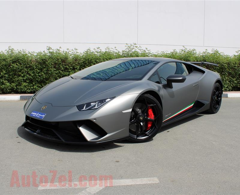 LAMBORGHINI HURACAN LP640-4 PERFORMANTE, V10- 2018- GREY- 5 500 KM- GCC