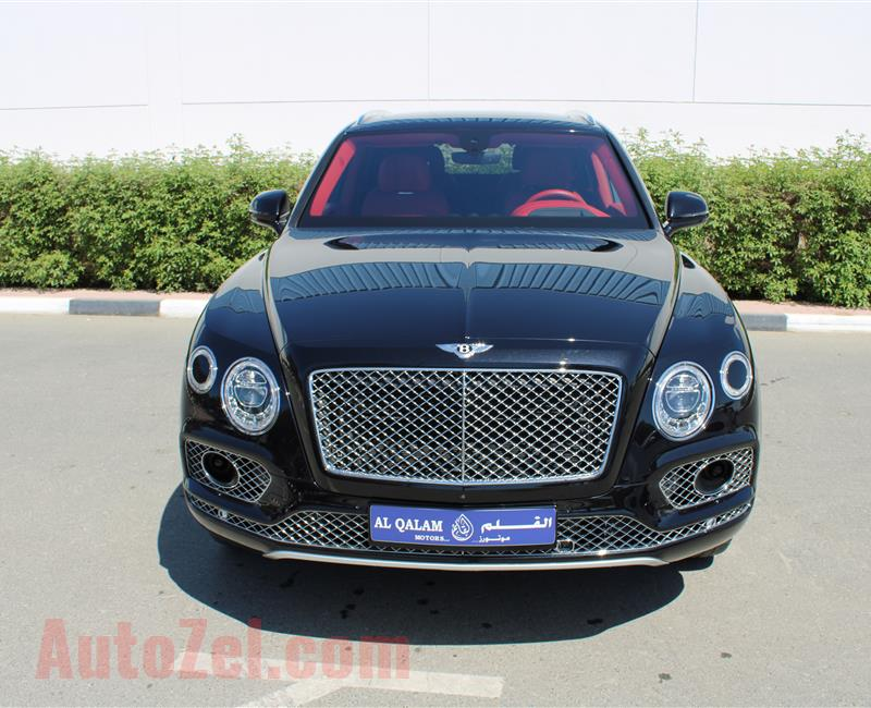 BENTLEY BENTAYGA, V8- 2017- BLACK- 27 000 KM- EUROPEAN SPECS