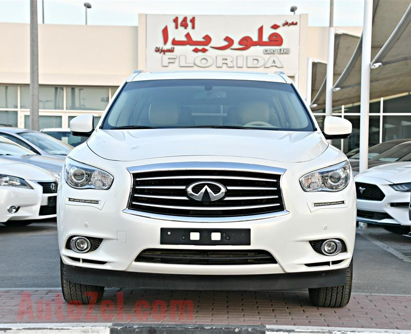 INFINITI QX60 MODEL 2014 - WHITE - 87,000 KM - V8 - GCC