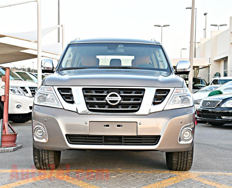NISSAN PATROL PLATINUM MODEL 2015 - BROWN - 85,000 KM - V8 - GCC