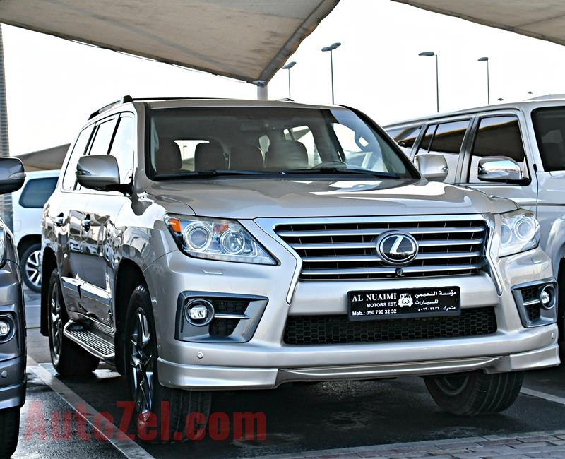 LEXUS LX570 MODEL 2013 - GOLD - 154000 KM - V8 - GCC