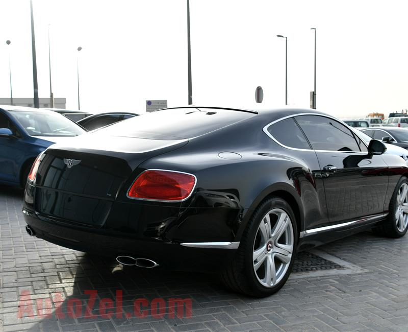 BENTLEY CONTINENTAL GT- 2014- BLACK- 55 000 KM- GCC