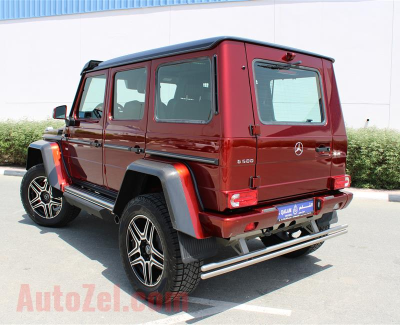 MERCEDES-BENZ G500 4X4- 2017- RED- 5 000 KM- GCC SPECS