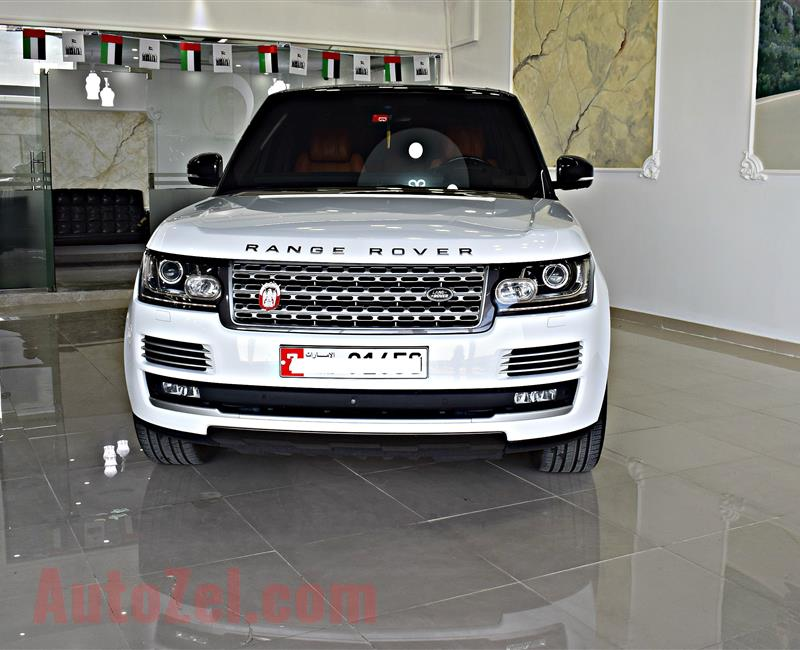 RANGE ROVER VOGUE HSE MODEL 2016 - WHITE - 103,000 KM - V8 - GCC