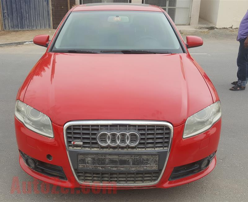 Audi A4 2.0 Turbocharger Red S-line GCC in excellent condition European Single Owner (all Service History available with Original Invoices)