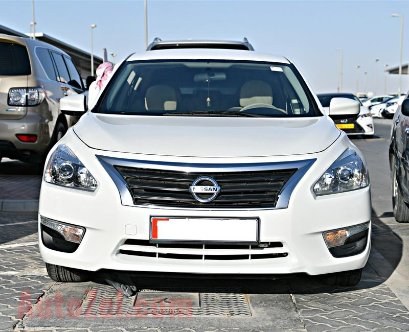 NISSAN ALTIMA MODEL 2015 - WHITE - 112,000 KM - V4 - GCC