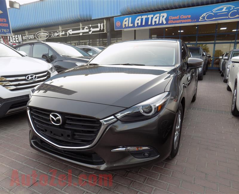 Mazda 3 1.6L 2018 Top of Range - Sunroof - 5 Years / 140K Warranty - Free Service till 60K - 5 Years Finance - Xenon Lights - Touch Start - Cruise - Camera - Fogs - Sensors