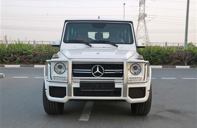 MERCEDES-BENZ G63- 2015- WHITE- 134 000 KM- GCC