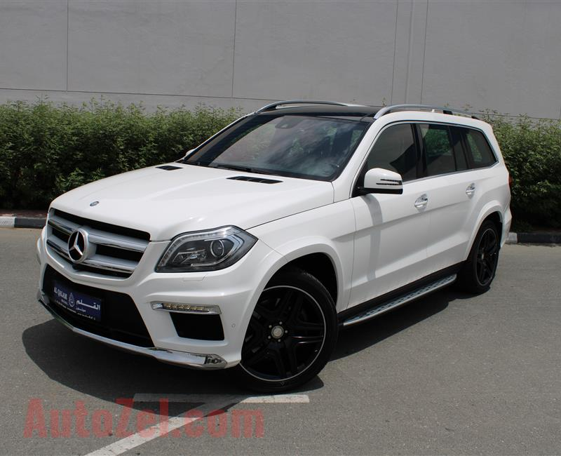 MERCEDES-BENZ GL500 AMG 4MATIC, V8- 2016- WHITE- 55 000 KM- GCC