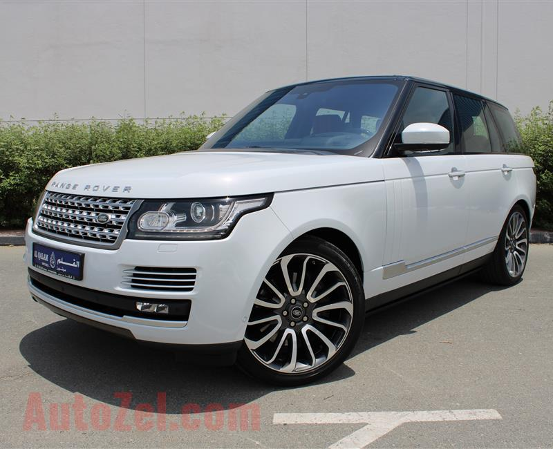 RANGE ROVER VOGUE AUTOBIOGRAPHY, V8- 2016- WHITE- 52 000 KM- GCC