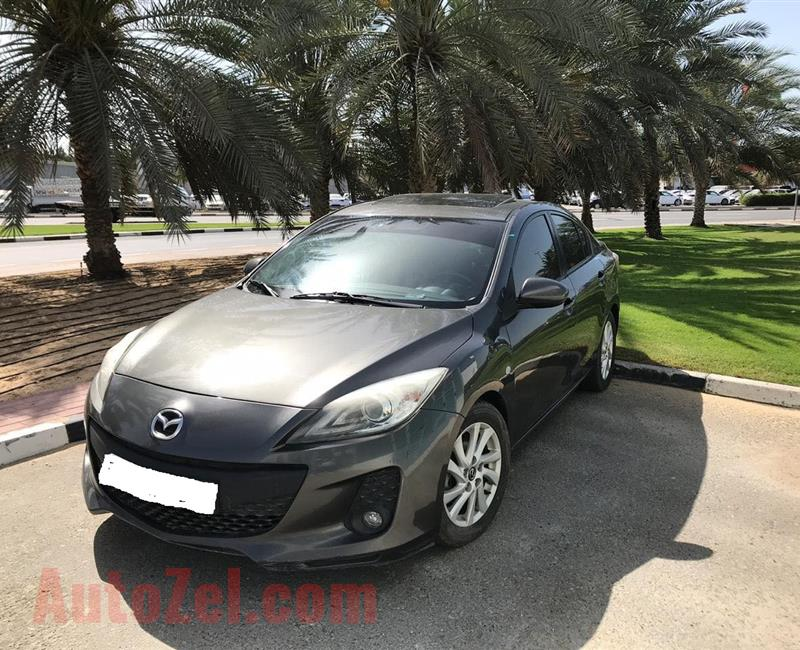 Mazda 3 2014 GCC  ,,  full opticin Good condition Car financ on bankm
