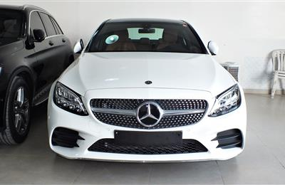 MERCEDES-BENZ C200- 2019- WHITE- 600 KM ONLY- GOOD AS NEW