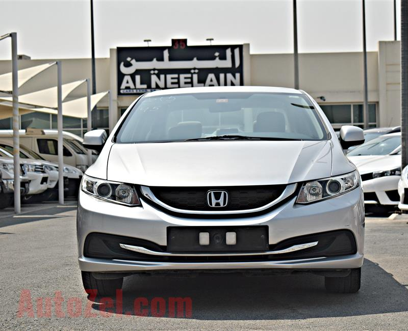 HONDA CIVIC  MODEL 2015 - SILVER - 173,000 KM - V4 - GCC