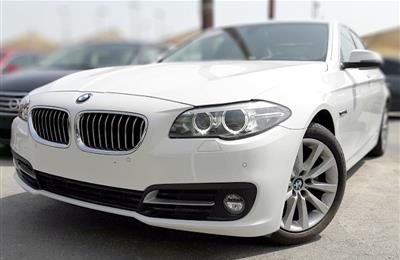 BMW 520- 2015- WHITE- 80 000 KM- GCC SPECS