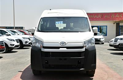 TOYOTA HI-ACE HIGH ROOF- 2019- WHITE- 13 SEATER- GCC...