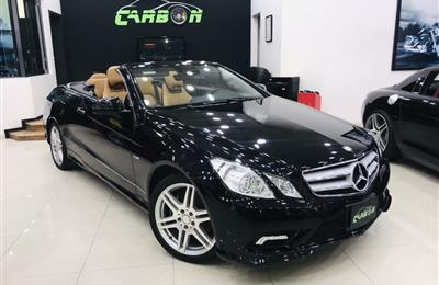 MERCEDES-BENZ E350 CONVERTIBLE, V6- 2013- BLACK- 40 000...