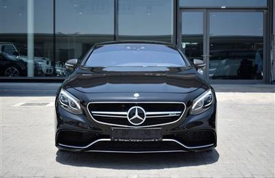 MERCEDES-BENZ S63 COUPE- 2016- BLACK- 74 000 KM- GCC SPECS