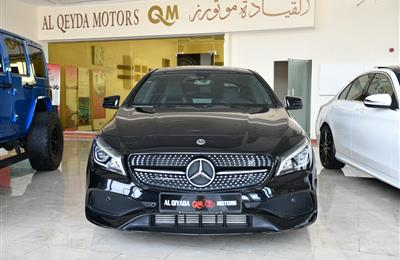 MERCEDES-BENZ CLA250- 2018- BLACK- 21 000 KM- GCC SPECS