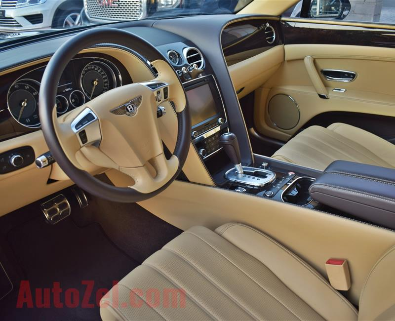BENTLEY CONTINENTAL FLYING SPUR, V12- 2014- BROWN- 50 000 KM- GCC