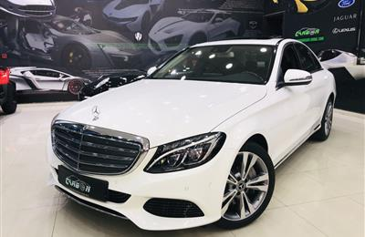MERCEDES-BENZ C400, V6- 2017- WHITE- 18 000 KM- EUROPEAN...