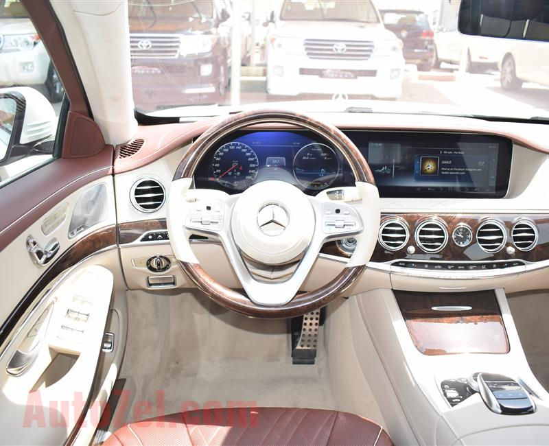 BRAND NEW MERCEDES-BENZ S560, V8- 2018- WHITE/BLACK/BROWN/SILVER- ZERO KM- GCC
