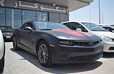 chevrolet camaro model 2014 - black - 70 000 km - v8 - gcc...