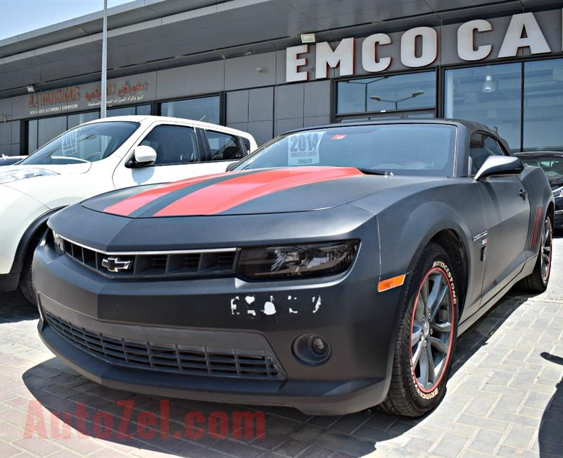 chevrolet camaro model 2014 - black - 70 000 km - v8 - gcc