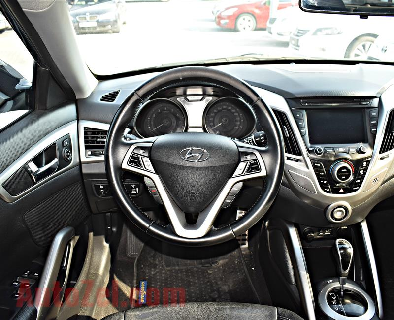 HYUNDAI VELOSTER MODEL 2015 - GREY - V4 - GCC