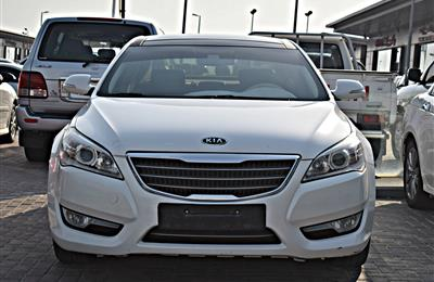 kia cadenza model 2013 - white - 240 ,000 km - v6 - gcc