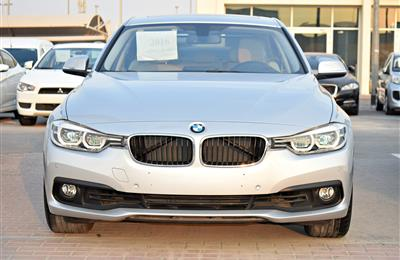 BMW 320I MODEL 2016 - SILVER - 44,000 KM -V4 - GCC