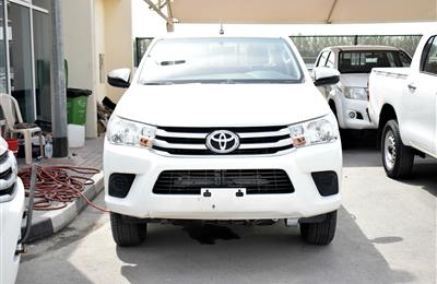 TOYOTA HILUX 4X4 PICK-UP, V4- 2017- WHITE- 55 000 KM- GCC