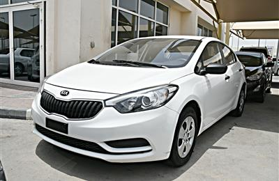KIA CERATO MODEL 2016 - WHITE - 78,000 KM - V4 - GCC