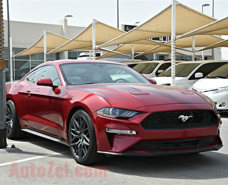 FORD MUSTANG MODEL 2018 - RED - 2000 MILEAGE  - V4 - CAR SPECS IS AMERICAN