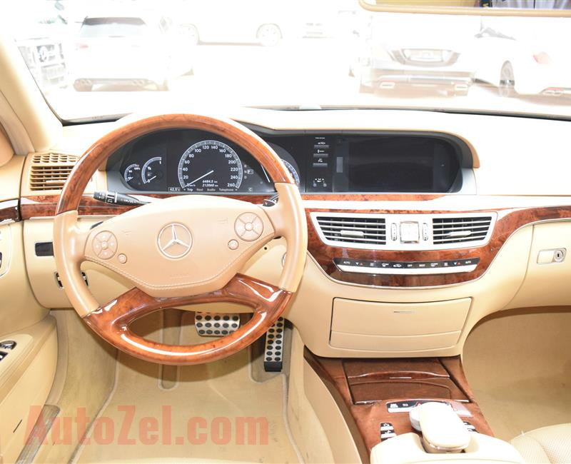 MERCEDES-BENZ S500, V8- 2010- BROWN- 200 000 KM- GCC