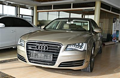 AUDI A8L 3.0 MODEL 2013 - GOLD - 235,000 KM - V6 - GCC