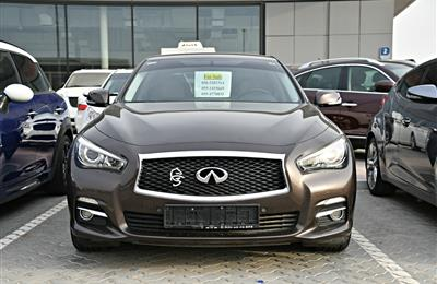 INFINITI Q50 MODEL 2016 - BROWN - 104,000 KM - V4 - GCC