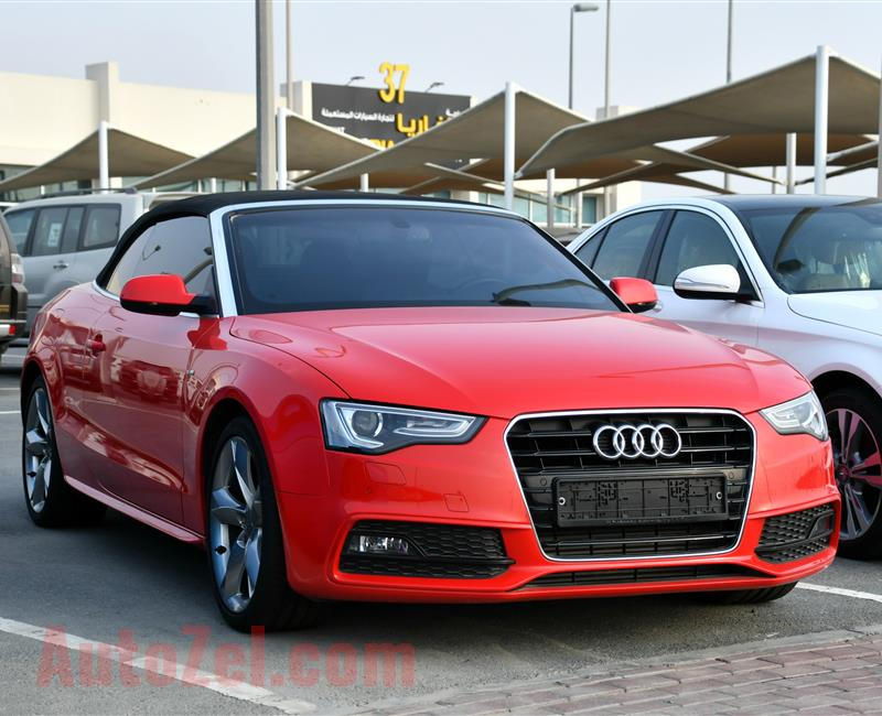 AUDI A5 35 TFSI, V4- 2015- RED- 57 000 KM- GCC