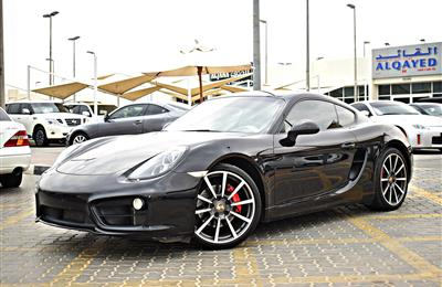 PORSCHE CAYMAN S MODEL 2014 - BLACK - 153,000 KM  - V6 -...