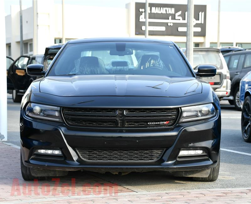 DODGE CHARGER SXT, V6- 2015- BLACK- 147 000 KM- GCC